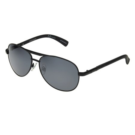 Foster Grant Men's Black Polarized Pilot Sunglasses FF07 ()