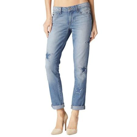 eed33165bdf PAIGE NEW Blue Womens 30x28 Stretch Jimmy Star Patch Skinny Jeans -  Walmart.com