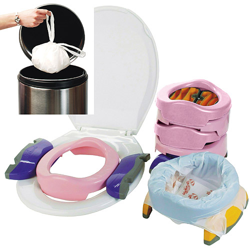Kalencom Potette Plus 2-in-1 Portable Potty & Training Seat, Pink
