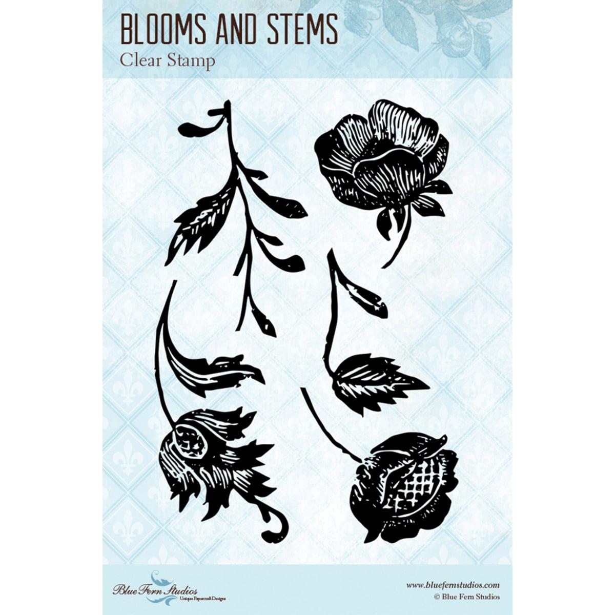 "Blue Fern Studios BF810381 Blue Fern Studios Clear Stamps 4""X6"" - Blooms & Stems"