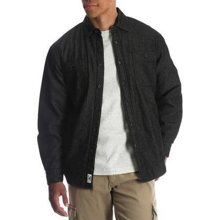 Wrangler Mens and Big Mens Sherpa Lined Flannel Shirt, Sizes Up to 3XL