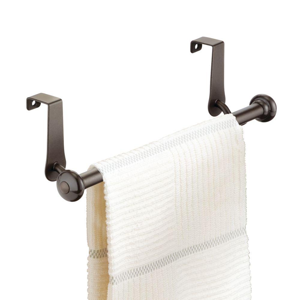 Bronze InterDesign Marcel Over-the-Cabinet Kitchen Dish Towel Bar Holder