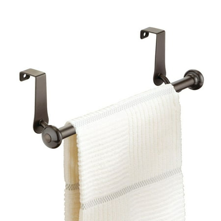 InterDesign York Over-the-Cabinet Kitchen Dish Towel Bar Holder, -