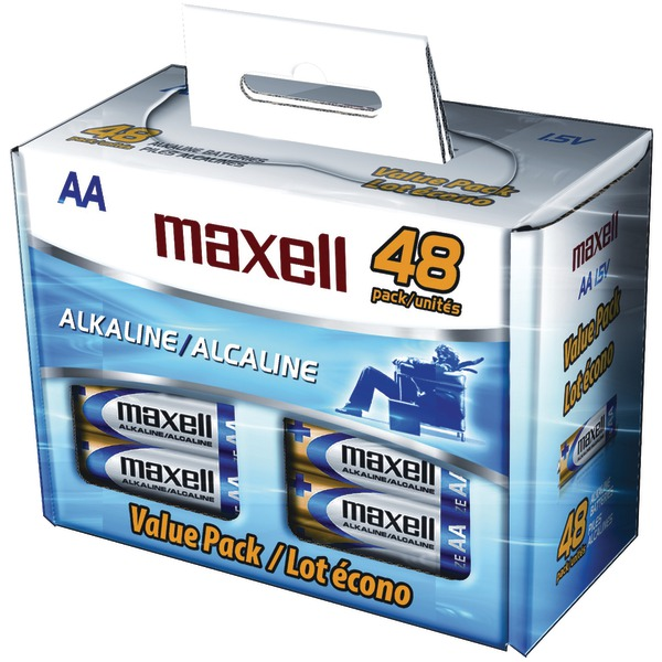 Maxell Corporation Of America 723443 Lr 6 48 Pk Box Aa Alkaline 48 Pack In Carton (lr648b)