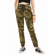 Juniors' Zipper Pocket Elastic Waist Joggers