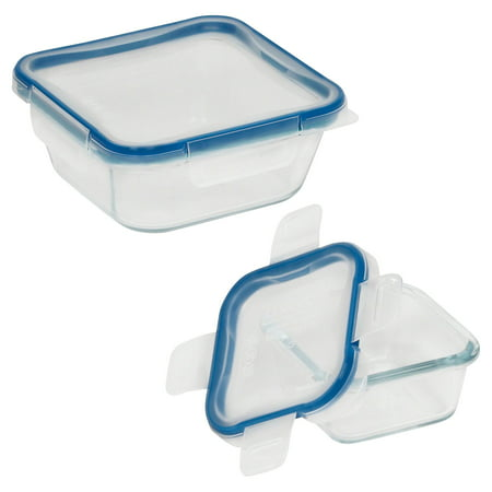 Collection Square Storage (Pyrex Snapware Total Solutions Glass Square Storage Set Value Pack, 4 Piece )