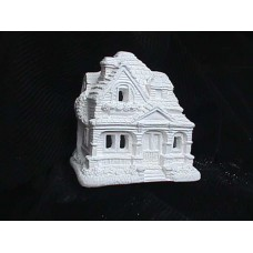 """Plastercraft unpainted holiday village house Approx. 4"""" high Dorothy's cottage"""