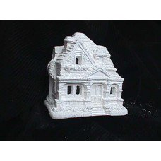Plastercraft unpainted holiday village house Approx. 4