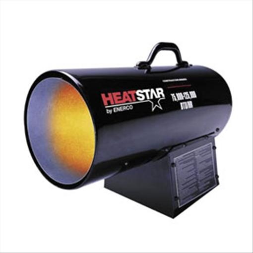 HD Portable Direct-Fired Forced Air Propane HeaterHS125FAV 75,000-125,000 BTU/HR