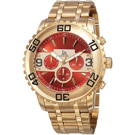 - Men's Swiss Quartz Multifunction Dual Time Stainless Steel Gold-Tone Bracelet Watch - GOLD