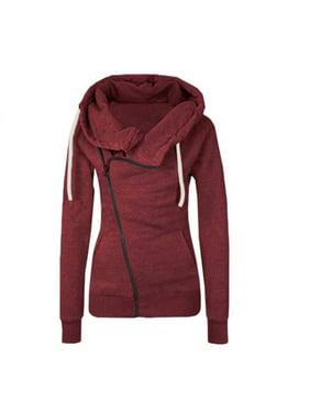 5f69535b Product Image Womens Zipper Hoody Hoodie Sweater Hooded Pullover Long  Sleeve Sweatshirt Jumper Coat Tops Outwear Casual