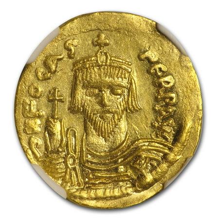 Follis Constantinople Mint (Byzantine Gold Solidus Emperor Phocas (602-610 AD) CH AU NGC)