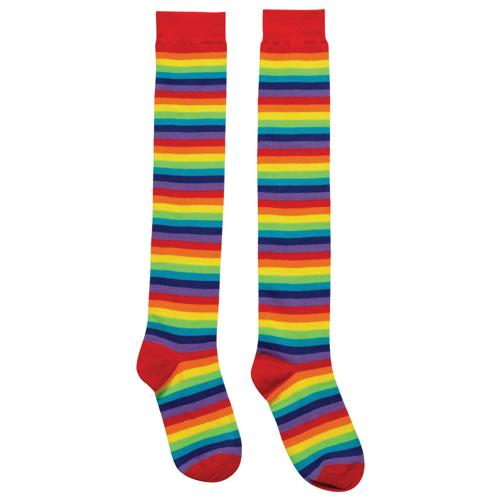 Rainbow Knee High Socks Halloween Costume Accessory