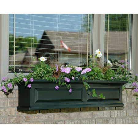 mayne 48 inch rectangle polyethylene nantucket window box. Black Bedroom Furniture Sets. Home Design Ideas