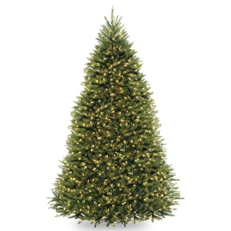 National Tree 9' Dunhill Fir Hinged Tree with 900 Dual-Color LED Lights and PowerConnect System, 9 (Montana Fir Tree)