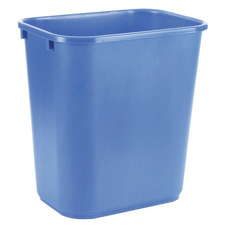 - Tough Guy 4UAU5 Blue LLDPE 7 gal. Desk-side Recycling Container