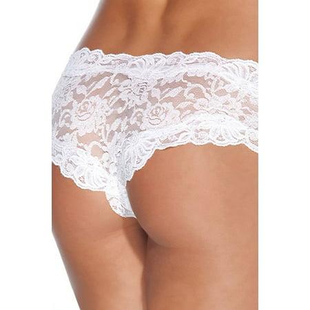 Coquette Floral Print Lace Crotchless Panty 142