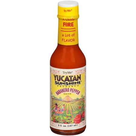 (2 Pack) Try Me Yucatan Sunshine Prepared Habanero Pepper Sauce, 5 fl - Steak Pepper Sauce