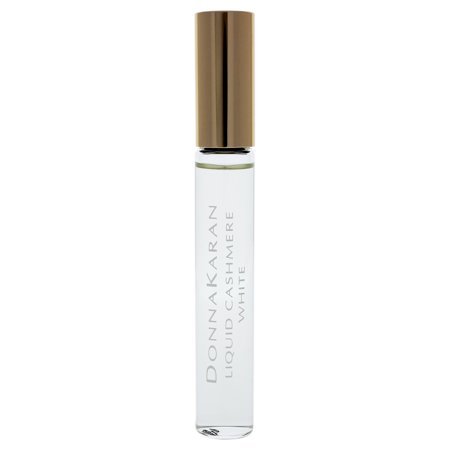 Donna Karan Liquid Cashmere White EDP Rollerball Perfume for Women, 0.34 oz