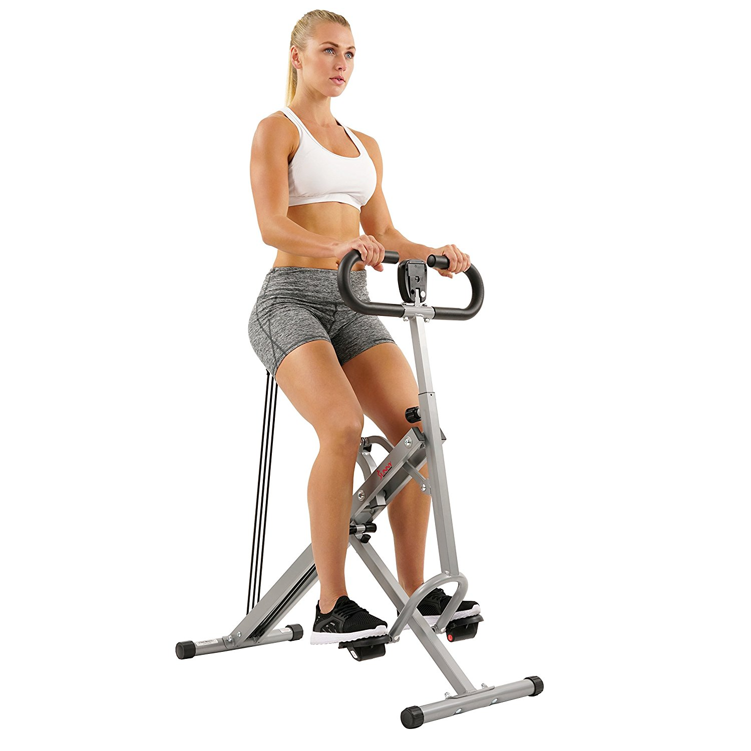 Sunny Health & Fitness Squat Machine Assist Row-N-Ride Trainer