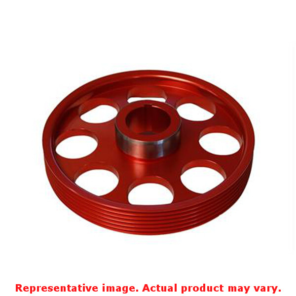 Torque Solution Lightweight Pulley TS-GEN-005R Red Fits:H...