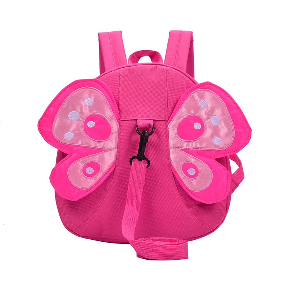 Children Backpack, Cute Honey Bee Children Backpacks Kindergarten School Bag Anti-lost Strap, Rose red by