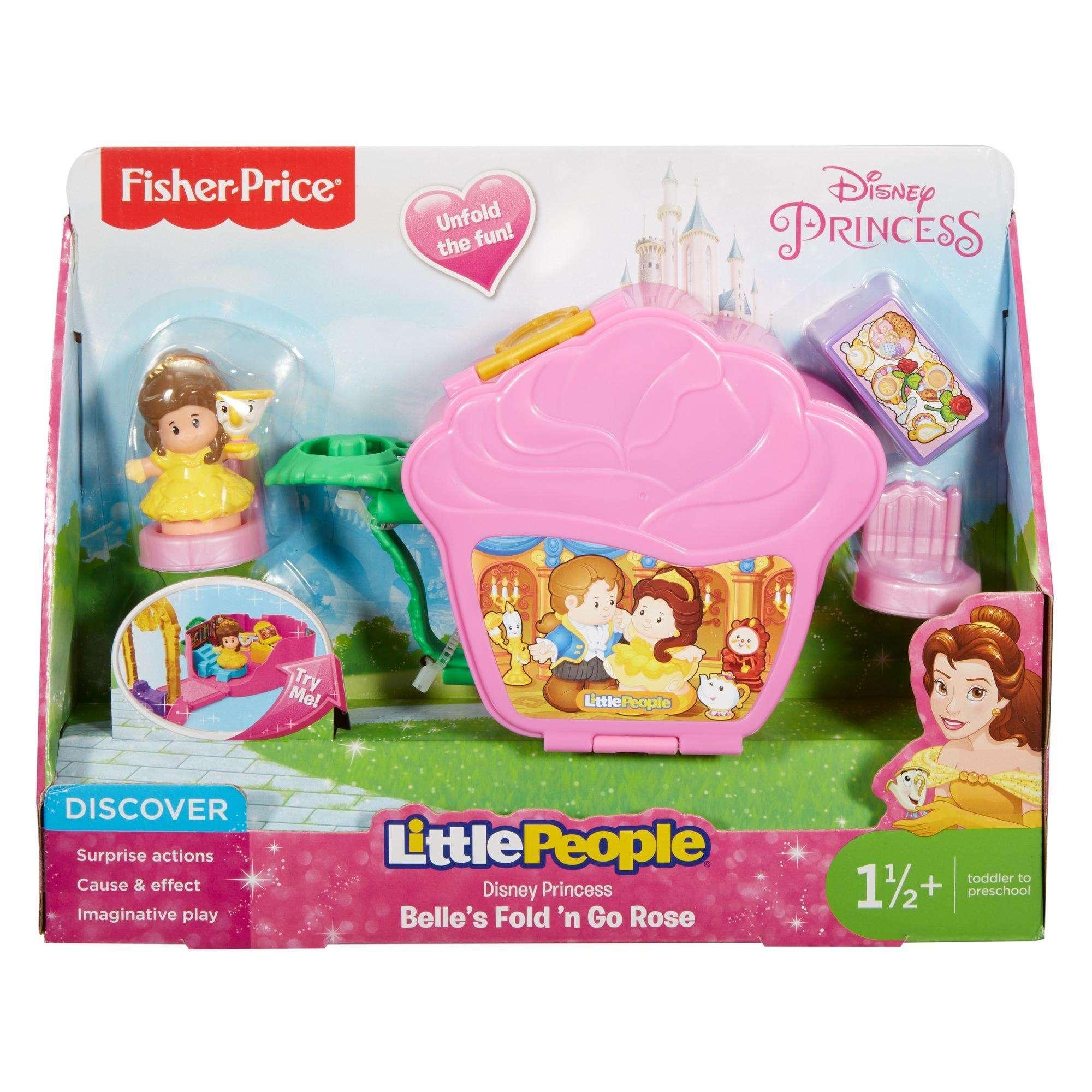 Disney Princess Belle\'s Fold \'n Go Rose By Little People - Walmart.com