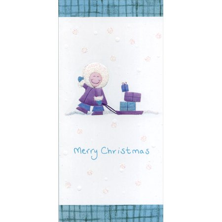 Image Arts Child with Sled & Presents Christmas
