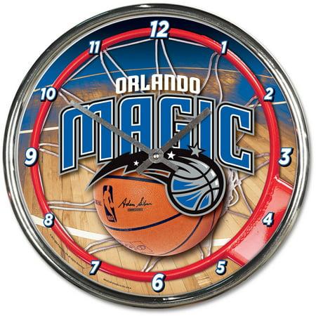 Orlando Magic WinCraft Chrome Wall Clock - No (Orlando Magic Round Wall Clock)