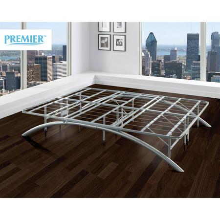 Premier Ellipse Arch Platform Bed Frame Brushed Silver