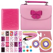 Xit Pink Butterfly Case For Fuji Mini Instax Cameras + Flamingo Pink 64-Sleeve Photo Album + Pink Camera Sticker + Striped Camera Strap + Color Close-Up Lens Filters (6) + Sweet 16 Sticker Frames (20)