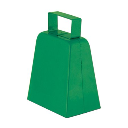 Club Pack of 12 Green Country Farm-Style Cowbells Party Favor Decorations 4