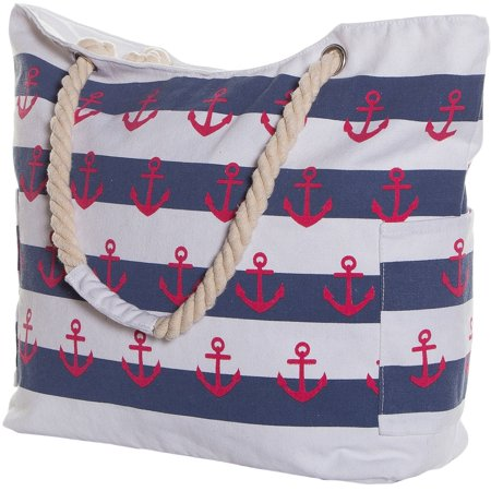 Pier 17 Extra Large Beach Bag - Waterproof Beach Tote Bag - Striped Beach  Bag With Pockets and Zipper for Women - Walmart.com aec525e89cae5
