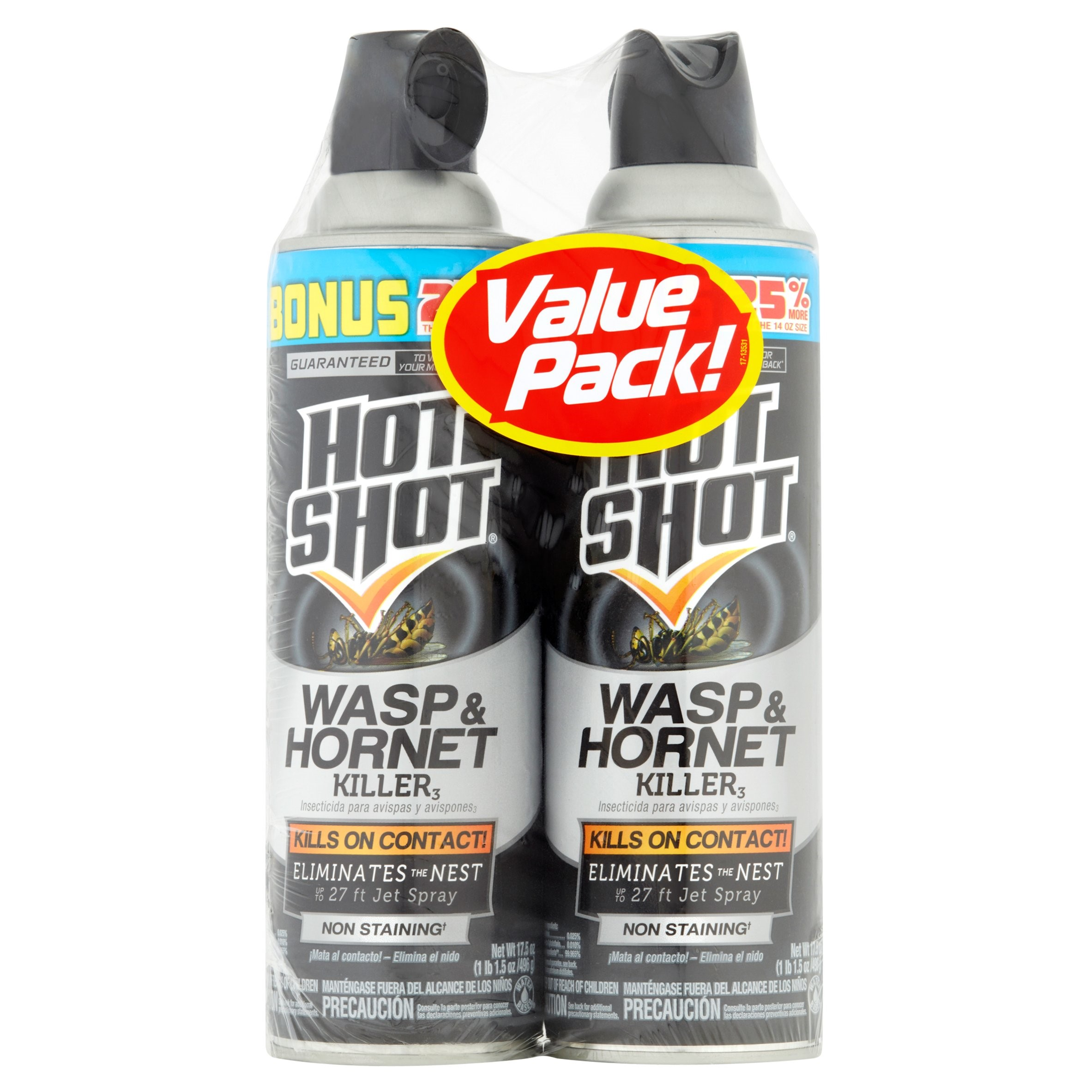 Hot Shot Wasp & Hornet Killer, 2/17.5-oz