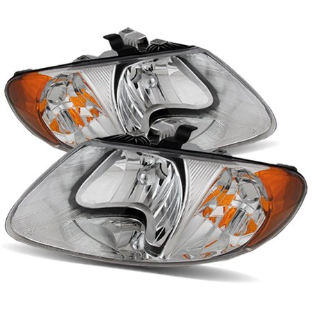 Voyager Headlight Set (For 01-07 Dodge Caravan/Town & Country/01-03 Voyager Chrome Crystal)