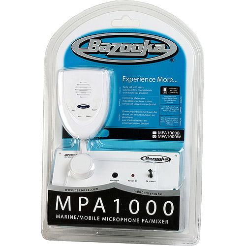 Bazooka MPA1000W, Marine/Mobile Microphone Pa/Mixer (White)