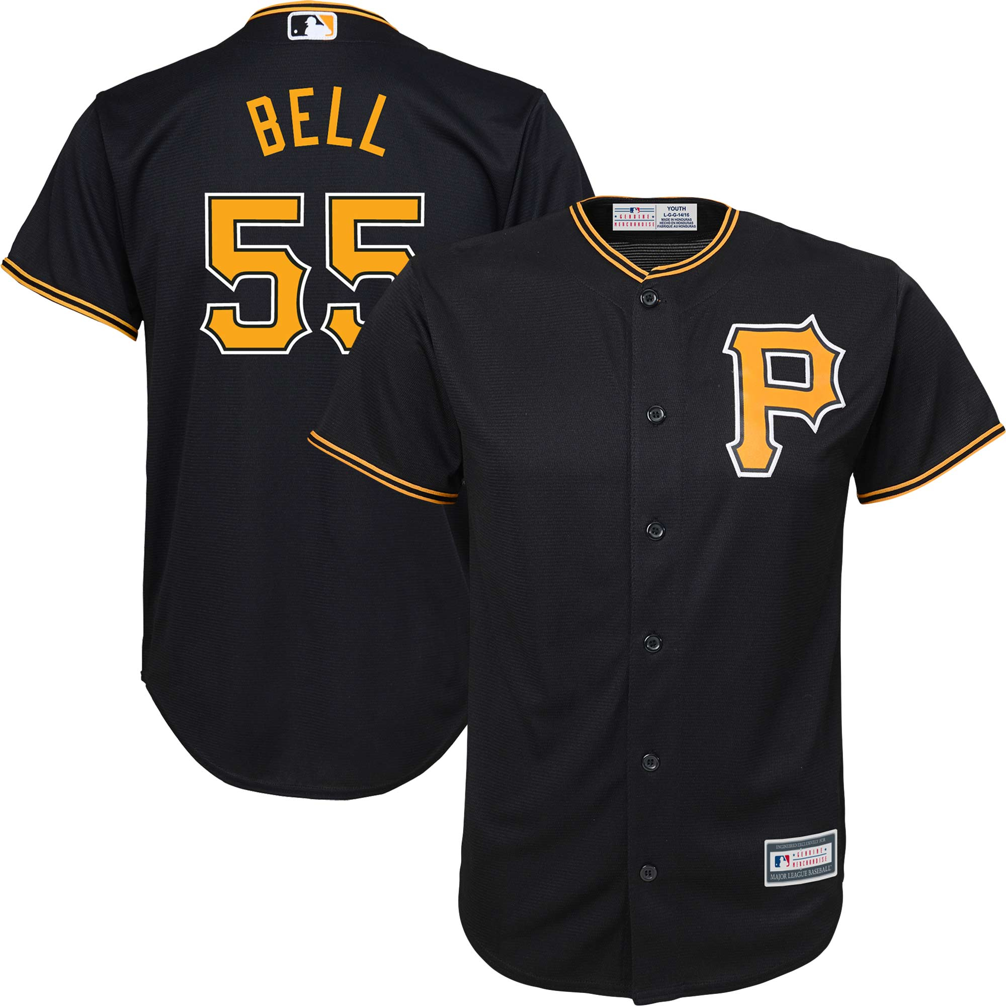 Josh Bell Pittsburgh Pirates Majestic Youth Alternate Replica Player Jersey - Black