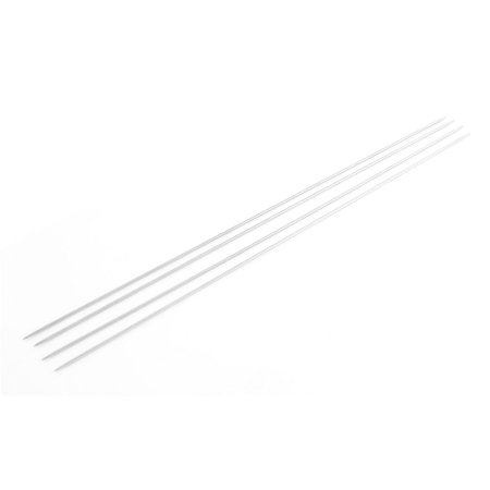 Double Point Stainless Steel Hollow Textile Knitting Needles 4 Pcs Silver (Hollow Steel Tube)
