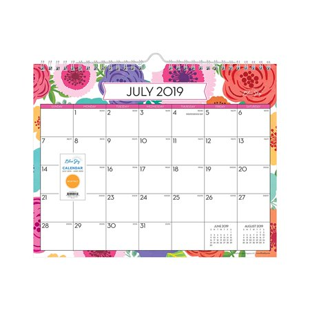 2019-2020 Academic Year Monthly Wall Calendar, Twin Wire Binding, 11