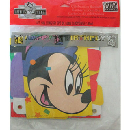 Mickey Mouse Vintage 'Happy Birthday' Banner - Mickey Mouse Happy Birthday Banner