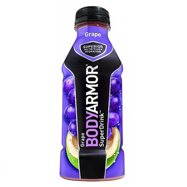 Body Armor Grape Sports Drink 16 oz Plastic Bottles - Pack of 12