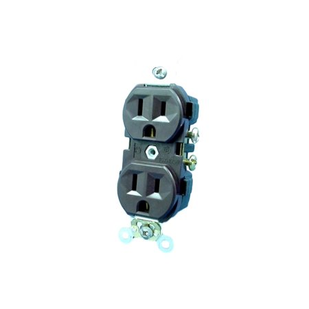 Leviton Brown Commercial Outlet Duplex Receptacle 5-15R 15A 125V CR15
