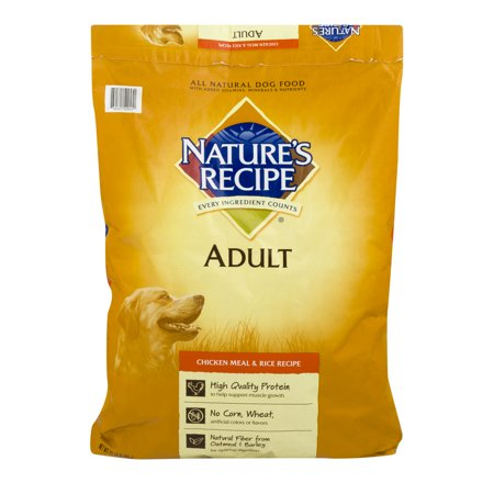 Natures Recipe Adult Dog Food Chicken Meal   Rice Recipe  15 0 Lb