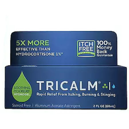 TriCalm Hydrogel, Steroid-Free Soothing Itch Relief Gel  2 oz
