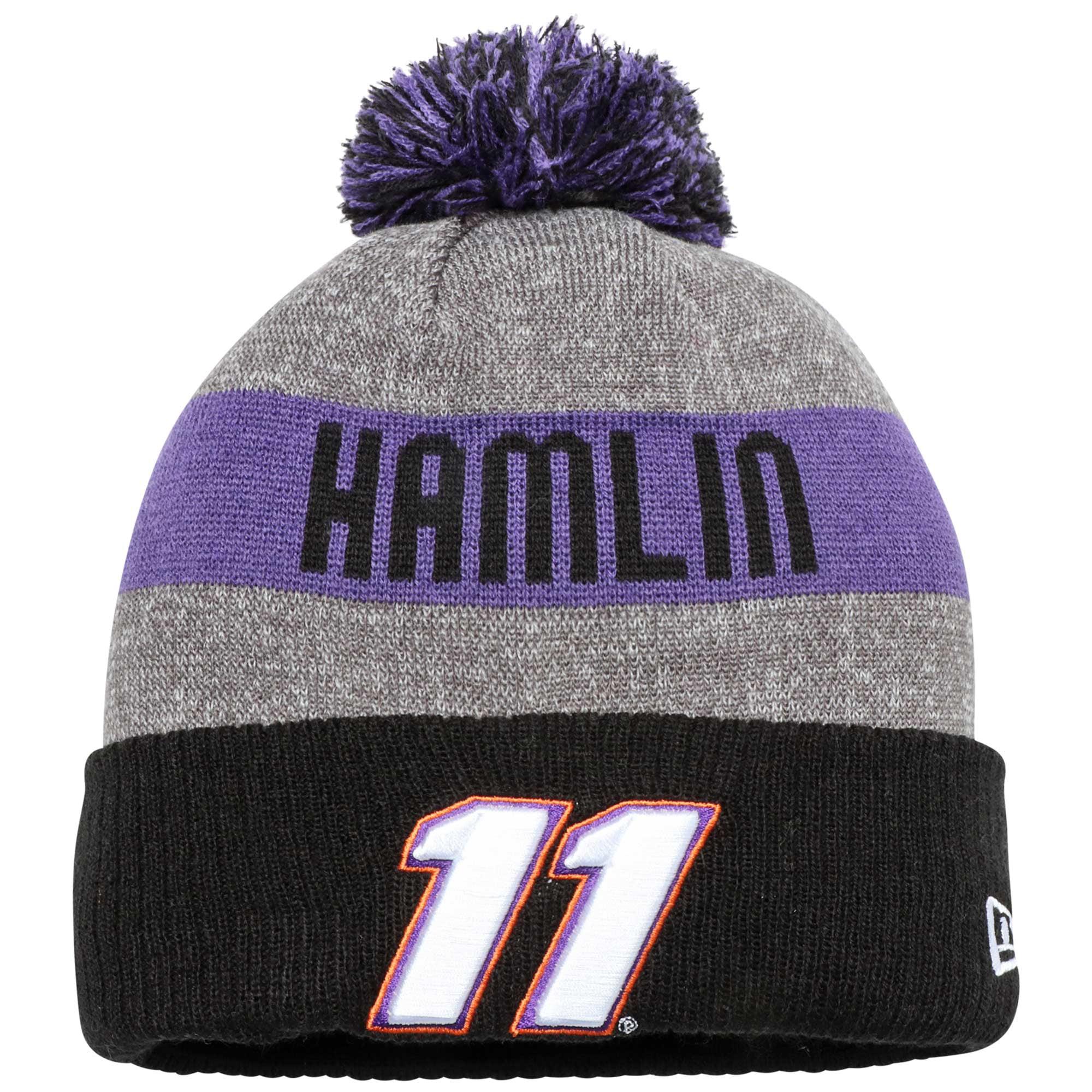 Denny Hamlin New Era Sport Knit Hat Black OSFA by NEW ERA CAP COMPANY