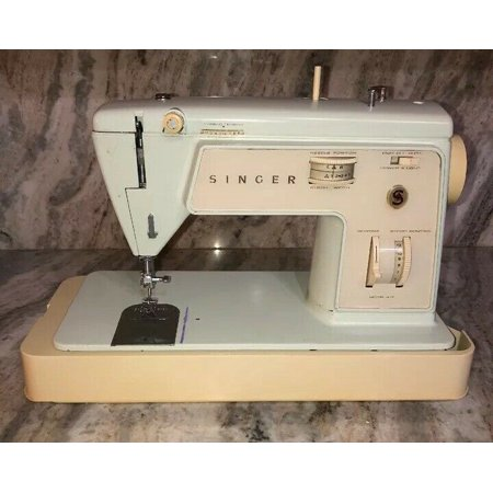 Vintage Singer touch & sew, model 417, portable sewing machine ()