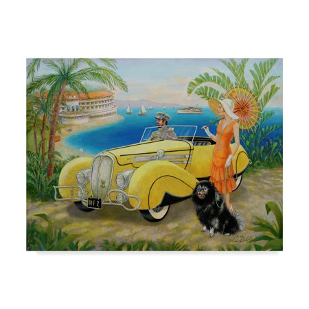 Trademark Fine Art 'Great Gatsby' Canvas Art by Lee Dubin - Gatsby Deco