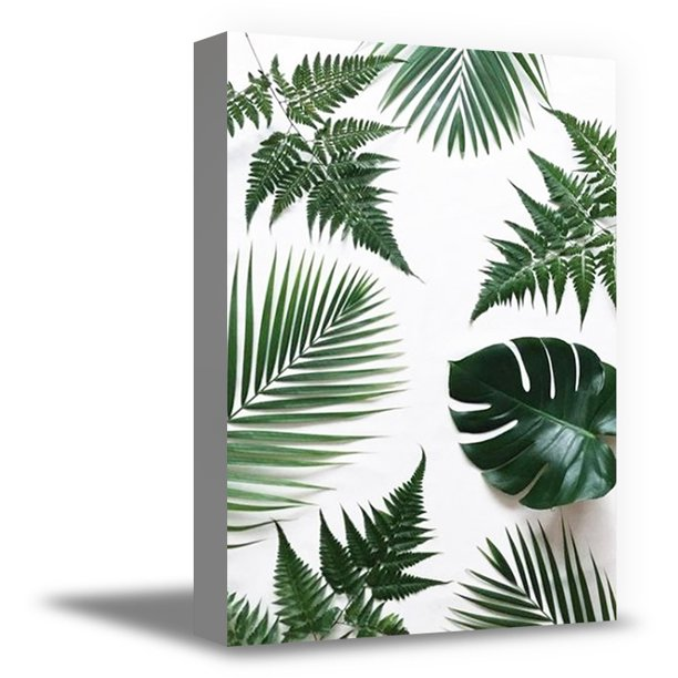 Awkward Styles Foliage Canvas Decor Green Grass Framed Art Inspirational Vinyl Art Beautiful Nature Art Home Decor Ideas Natural Canvas Art Plants Canvas Decor For Kitchen Inspirational Plants Prints Walmart Com