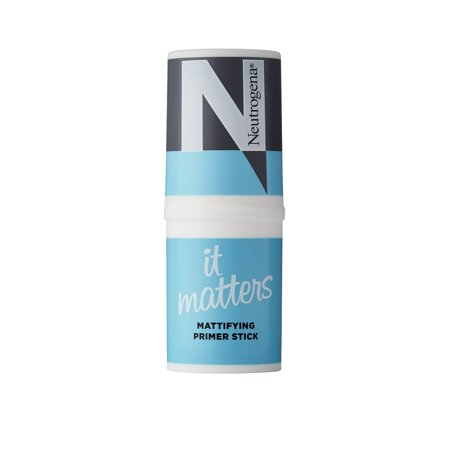 Neutrogena It Matters Mattifying Primer Stick, Non-Greasy and Non-Whitening Primer to Absorb Oil and Eliminate Shine, 0.57 (Black Radiance Complexion Perfection Shine Control Primer)