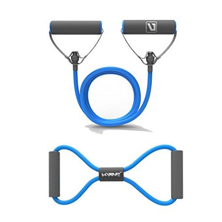 Liveup SPORTS Resistance Bands Resistance Tubes with Foam Handles, Exercise Cords for Exercise Fitness Pilates Strength Training in Blue
